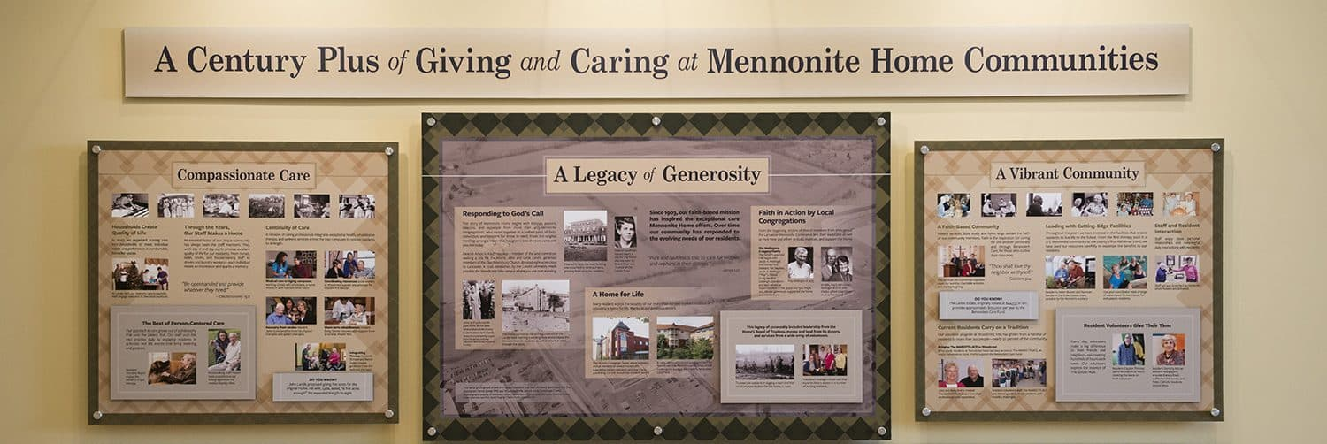 A century plus of Giving at Mennonite Home Communities