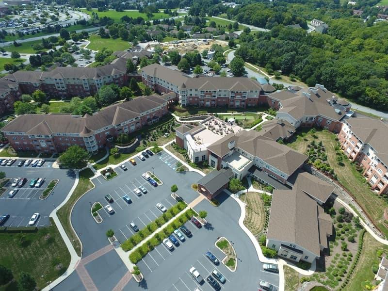 Overview of Woodcrest Villa campus