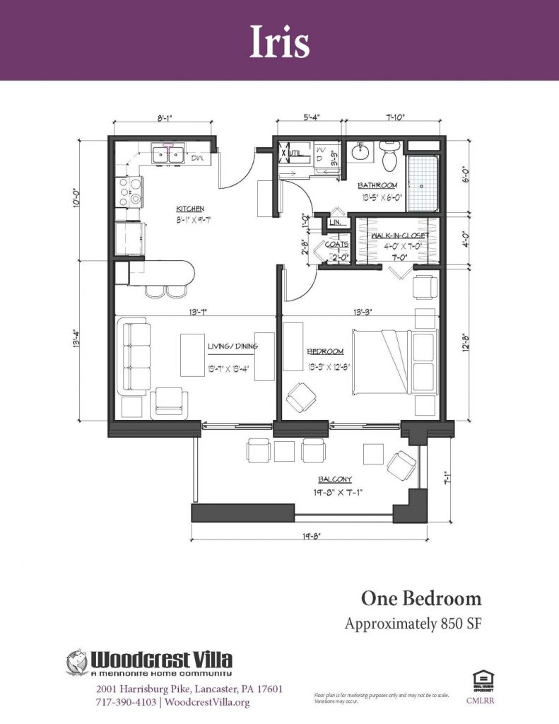 sample iris floor plan